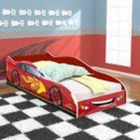 Mini Cama Infantil Carros Super Turbo 85 com Colchão - Vermelho - Magia Baby