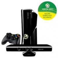 Xbox 360 Microsoft 250GB + Kinect + Controle Wireless Microsoft Preto