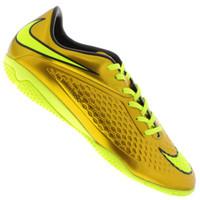 Chuteira de Futsal Nike Hypervenom Dourada Phelon IC Masculino Ouro ... 63dd8c4389f8d