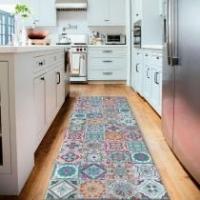 Tapete Passadeira Mosaic Com Antiderrapante-Cinza Claro-50 x 160 - 50 x 160 - Style brazil