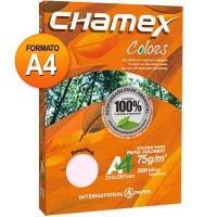 Papel Sulfite International Paper A4 Chamex Colors Rosa 500 Folhas