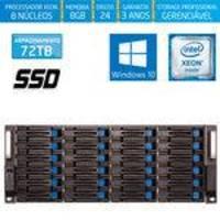 Servidor-storage Silix X1200h24 V6 Intel Xeon 3.5 Ghz / 8gb / Ssd / 72tb / Raid / Hot-swap / Win 10