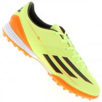 50220de2d5 Chuteira de Futebol Society Adidas F10 TRX TF SS14 Verde Claro e Laranja