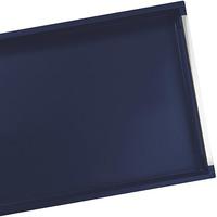 Bandeja Tramontina Retangular com Alça Design Collection Laqueada Azul 50x34 cm