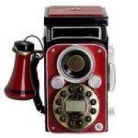 Telefone Antigo Retro de Mesa Câmera Antiga