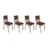 Conjunto 4 Cadeiras Vega E Courino Bege