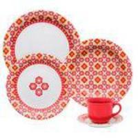 Jogo Aparelho De Jantar 20 Peças De Porcelana Floreal