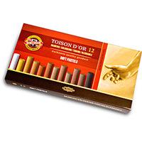 Estojo Pastel Koh-I-Noor Seco Toison D'Or Sortido 12 Tons Marrons