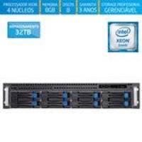 Servidor-storage Silix X1200h8 V6 Intel Xeon E3 V6 3.0 Ghz / 8gb / 32tb / Raid / Rack 2u / Hot-swap