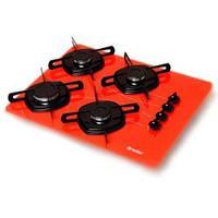 Cooktop Braslar 4 queimadores Vermelho