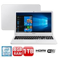 "Notebook Samsung Expert X30 NP350XAA-KD2BR Intel Core i5-8250U 8GB 1TB 1.6GHz 15.6"" Windows 10 Branco"