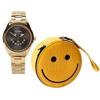 31d4d196c00a6 Relógio Feminino Analógico Mondaine 94779lpmvde1kz + Estojo Clutch Dourado