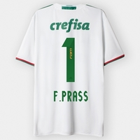Camisa Adidas Palmeiras Ii 2016 Nº 1 F. Prass Branco e Verde  2354798ca4087