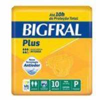 Fralda Geriatrica Bigfral Plus P 8 Pct. C/10 Cxf