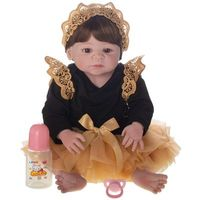 Boneca Laura Doll Reborn Baby Aurora Shiny Toys