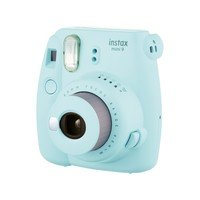 Kit Câmera Instax Mini 9 Azul Aqua + Case + Filme 10 Poses