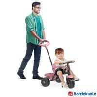 Triciclo Bandeirante Smart Plus com Função Passeio e Pedal Rosa