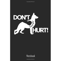 Don't Hurt: Dont Hurt Animals - Dogs Notebook College Book Diary Journal Booklet Memo 110 Sheets - Ruled Paper 6x9 Inches