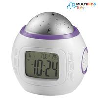 Projetor De Luz Portátil Com Relógio MultiKids BB200 Roxo