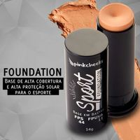 Base em Bastão Pink Cheeks Sport Make Up Foundation Café