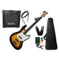 Baixo Phx Jb 4 Jazz Bass 4 Cordas Sunburst Caixa Sheldon