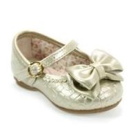 Sapato Menina Laço Bailarina Baby Dourado Kidy - Sapato Menina Laço Bailarina Baby Dourado Kidy 20 8591