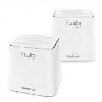 Conjunto Roteador Wi-Fi Mesh Twibi Fast Intelbras Branco