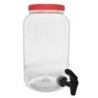 Suqueira De Plástico Com Dispenser 3600 Ml - Tampa Vermelha