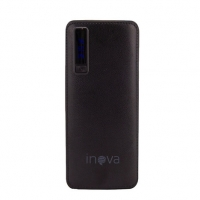 Carregador Portátil Power Bank Inova 10.000 mAh com Display Digital, Entrada USB e Lanterna Led - Preto