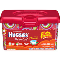 Lenços Umedecidos Huggies Natural Care 80 unidades