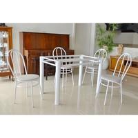 Base Para Mesa 4 Cadeiras Francesa Metalmix Branco