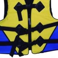 Colete Salva vidas 60kg 1734 Amarelo azul Mor
