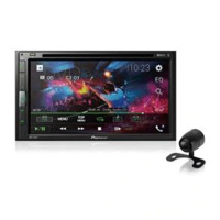 Dvd Player Automotivo Pioneer Avh-A318Bt 2Din 6,8 Polegadas Leitor Cd Bluetooth Usb Fm Aux + Câmera De Ré