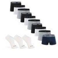 fc78946a3 Kit Com 10 Cuecas Boxer Brief Cotton com 3 Pares de Meia Cano Curto - Duomo