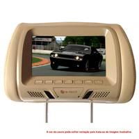 Encosto de Cabeça para Carro LCD 7'' E-Tech ET-ENC 02 Bege