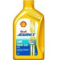 Oleo Motor 4t Shell Advance 20w-50 Mineral Moto