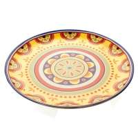 Prato para Doces Brandani com Tampa México Cerâmica 30cm