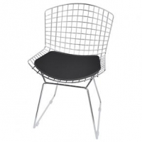 Cadeira Elare Bertoia CM0005 Cromada Preto