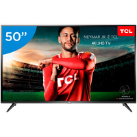 Smart TV LED 50 TCL 4K Ultra HD P65US Linux Conversor Digital