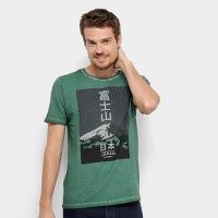 Camiseta JAB Estampa Montanha Masculina - Masculino