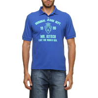 Camiseta Polo Mr Kitsch Manga Curta Masculina Azul