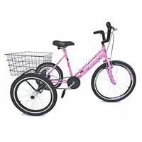 Bicicleta Triciclo Valdo Bike Aro 24 Borboleta Rosa