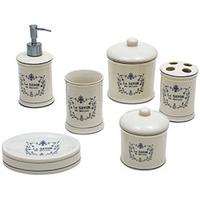 Kit para Banheiro Incasa em Porcelana 6 Peças