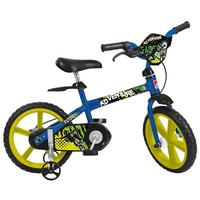 Bicicleta Bandeirante Adventure Aro 14 Azul e Amarelo