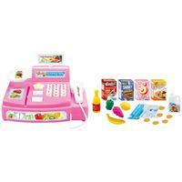 Caixa Registradora Infantil Tec Toys Mini Feirinha Polibrinq 24 Peças