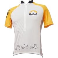 Camiseta Kailash Bike Ride Half Masculina Branca e Amarela