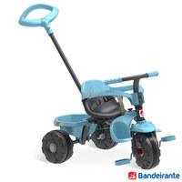 Triciclo Bandeirante Smart Plus com Função Passeio e Pedal Azul