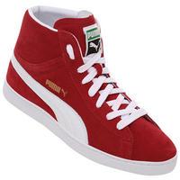 Tênis Puma Suede Mid Classics Masculino Vermelho e Branco  ce5891c918761