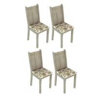 Conjunto 4 Cadeiras Lucy Madesa Acácia Lírio Bege