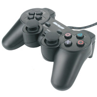 Joystick para PC, PS e PS2 Multilaser JS10210 Dual Shock Analógico